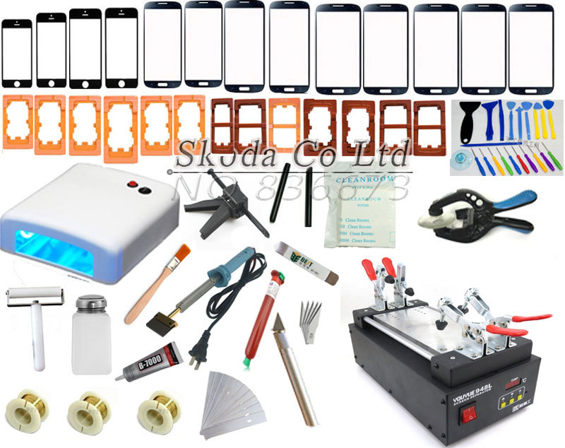 110/220V for iPhone 6 Mobilephone Touch Glass Screen Repair Kit LCD Separator Machine +Mould+UV Loca Glue+ Cutting Wire+UV lamp 110 220v 3pcs lot lcd separator machine lcd repair machine for all brand phones with free cutting wire