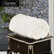 Lilysilk edredão seda 100 puro natural longo fio de seda fio verão luxo cama rei rainha casa têxtil frete grátis