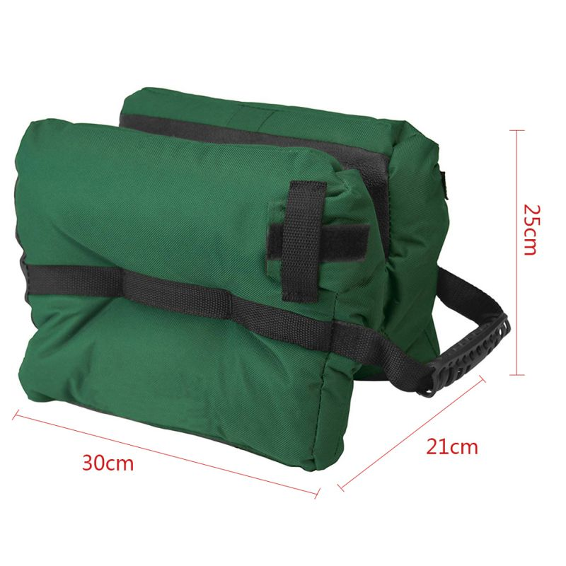 Portable Shooting Rear Gun Rest Bag Set Front & Rear Rifle Target Hunting Gun Bench Unfilled Stand Hunting Accessories Outdoor