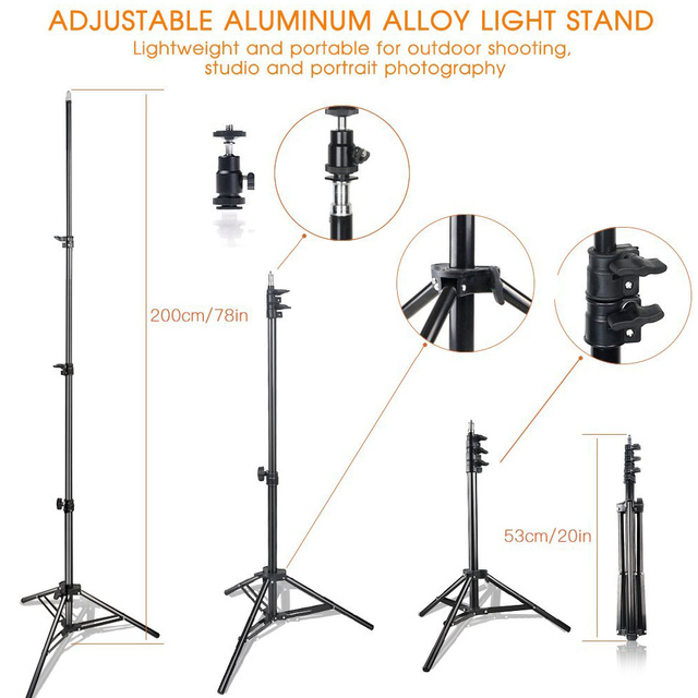 Photography and Video Lighting with Tripod