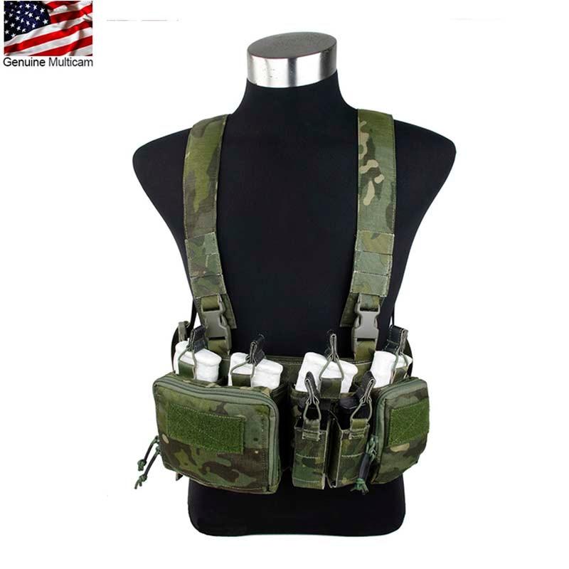 TMC MTP GZ Black 762 Chest Rig Outdoor Tactical Vest D3 CRH 762 Chest Rig Multicam Tropic