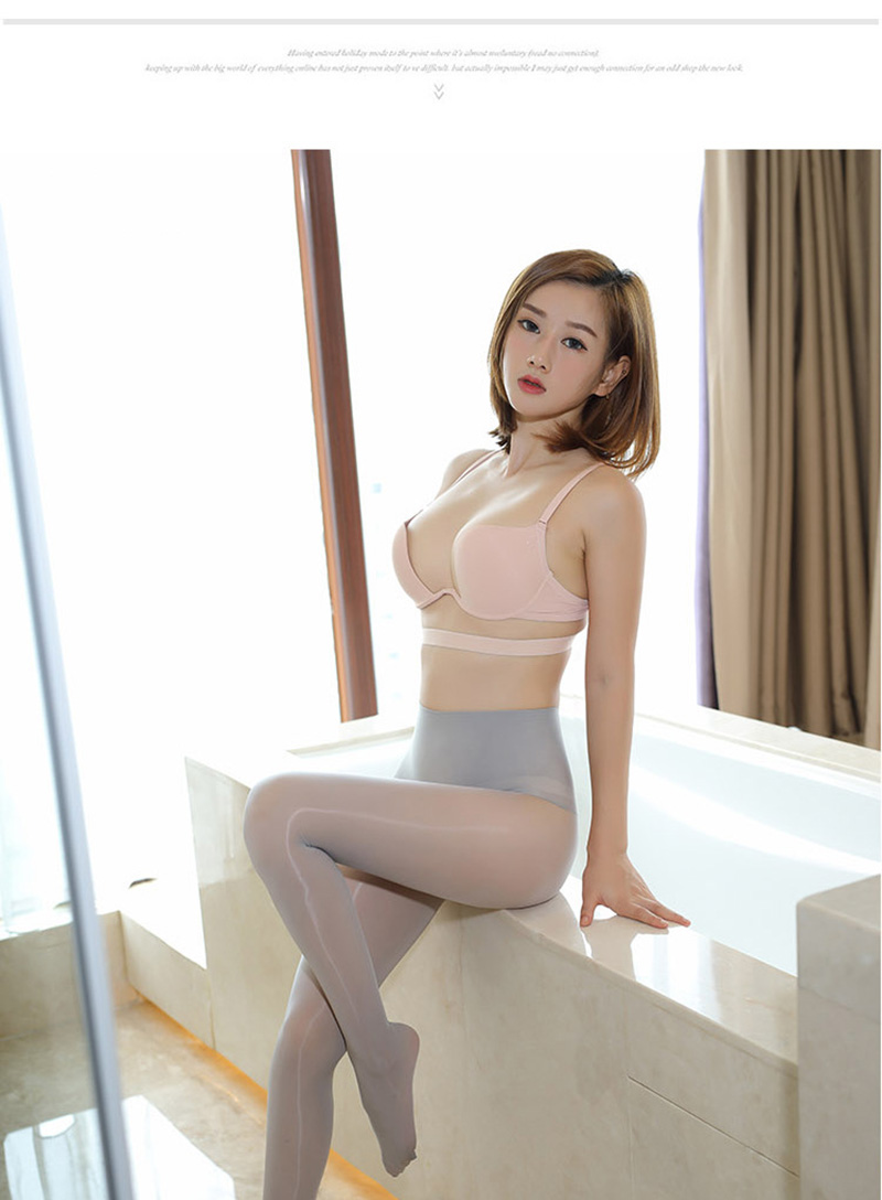 Smoothly Magic High Waist Pantyhose, Shiny Than Oil Glossy 8D Ultrathin Seamless Crotch Tights Transparent 18