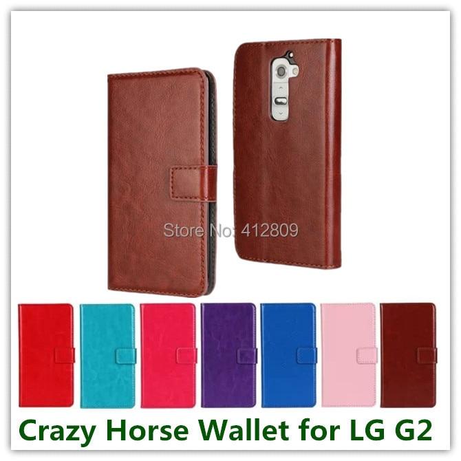 Nueva Pink grano del cuero del caballo bolsa de estilo de negocios caso  elegante de la cubierta de la carpeta para LG G2 con tarjeta de  identificación ... 4339afff1c4