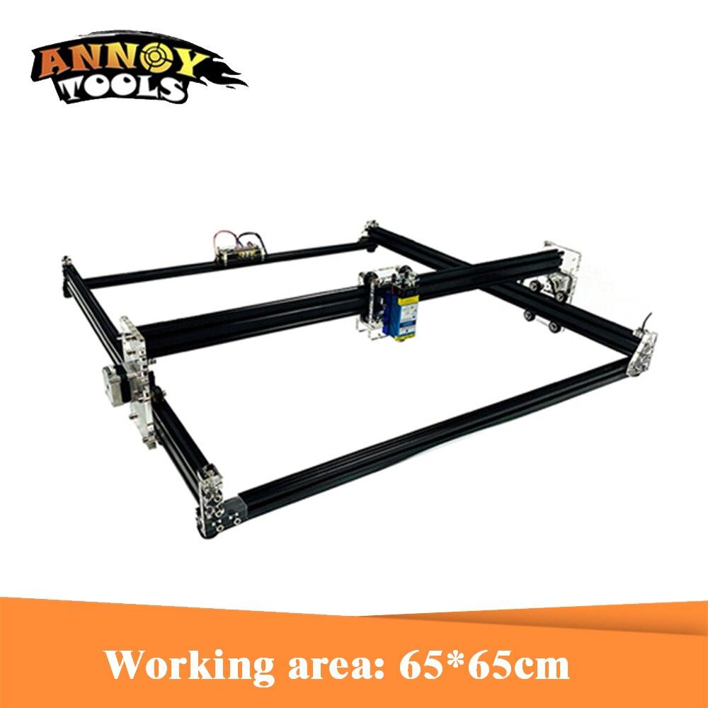 Bricolage 15W Laser graveur 500 mW/2500 mw/5500 mW/15000 mw GRBL1.1 2 axes Laser Cutter CNC routeur gravure Machine bois routeur