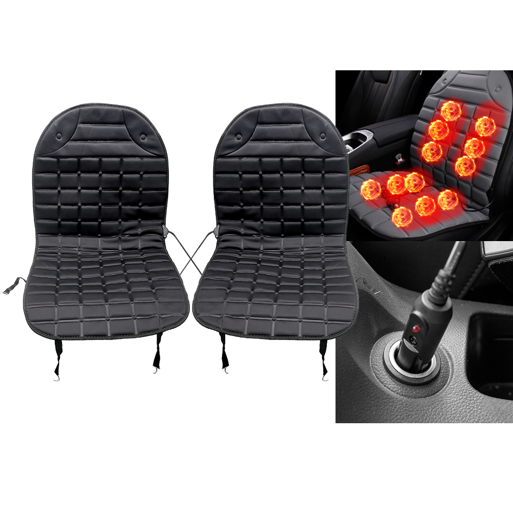 Car Seat Cover with Heater Warmer Winter Supply Electric Heated Automobiles Seat Cushion Pad Auto Accessories