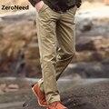 Pantalones 2017 Nuevos Pantalones Casuales de La Moda Recta de carga de Secado rápido Pantalones largos Masculinos Pantalones de Trabajo Al Aire Libre Pantalones de Algodón de Los Hombres Sólidos 3