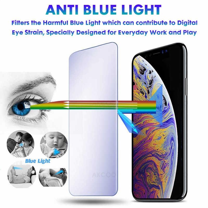 Akcoo S10 Plus Anti Blue Ray Glas Protector Voor Samsung Galaxy S8 9 10e Plus Note 8 9 Uv Glas volledige Lijm Screen Protector Film