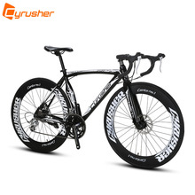 Cyrusher XC700 Sports Racing Road Bicycle 14 Speeds 700C 54/56CM Light Aluminum Frame Pro Mens Road Bike Mechanical Disc Brakes