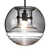 New Nordic современные лампы вода стекла Творческий Круглый Отель Ресторан лампа прикроватная droplig коммерческих Дизайнер подвесной светильник