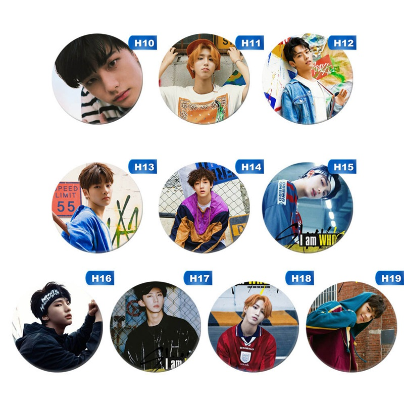 Kpop Stray Kids Round Badge For Bag Hats Clothes Fashion Chest Pins Brooch Bang Chan 2019