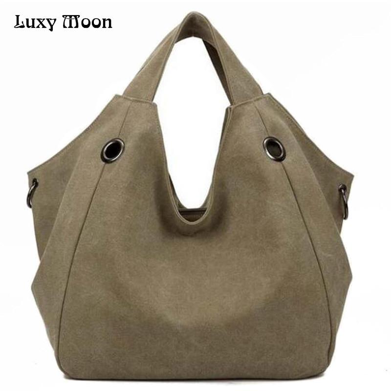 Luxy Moon Women's Handbags Fashion Canvas Big Women Bags High Quality Hobo Messenger Bags Famous Top-Handle Bags  Brand Ladies how high the moon