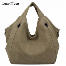 Luxy Moon Women's Handbags Fashion Canvas Big Women Bags High Quality Hobo Messenger Bags Famous Top-Handle Bags  Brand Ladies