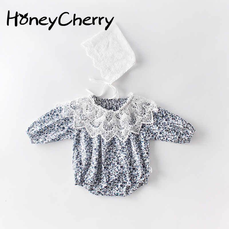 Girls Bodysuit Crawling Clothes For Newborns With Small Fragments Can Take Off Bud Collar, Butt Shirt And Three-piece Clothes