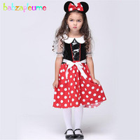 babzapleume Brand Girls Dance Dress Halloween Cosplay Cartoon Mouse Costume Cute Kids Outfit Toddler Clothes Christmas Gift Y022