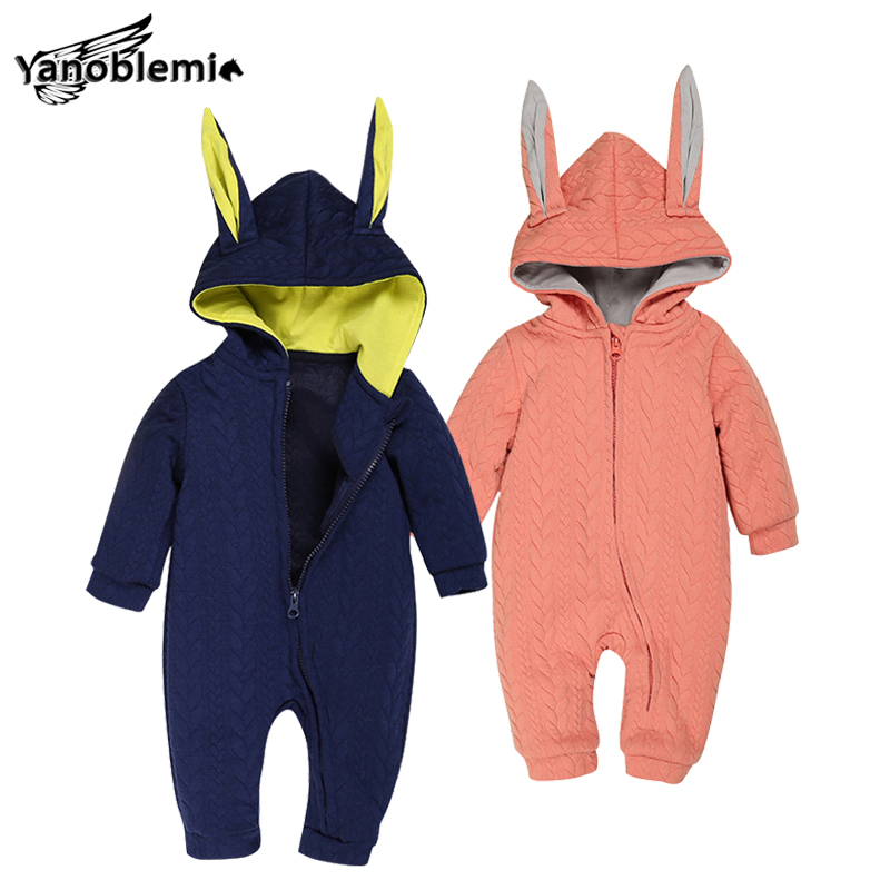 Bunny Rompers For Baby Boys Girls Cotton Clothes Jumpsuit Children Winter Cartoon Pajama Suit Coveralls Newborns Rabbit Romper cotton baby rompers set newborn clothes baby clothing boys girls cartoon jumpsuits long sleeve overalls coveralls autumn winter