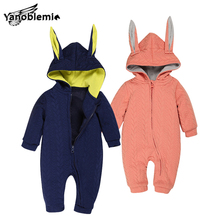 Bunny Rompers For Baby Boys Girls Cotton Clothes Jumpsuit Children Winter Cartoon Pajama Suit Coveralls Newborns Rabbit Romper