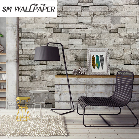 Wholesale Vintage Wallpapers 3D Brick Stone Texture Embossed Wall Stickers papel de parede 3d  for Hotel Home Decor boston ivy 3d brick wallpapers roll stone wall paper vinyl vintage wallpaper for walls papel de parede para 3d stone wallpapers