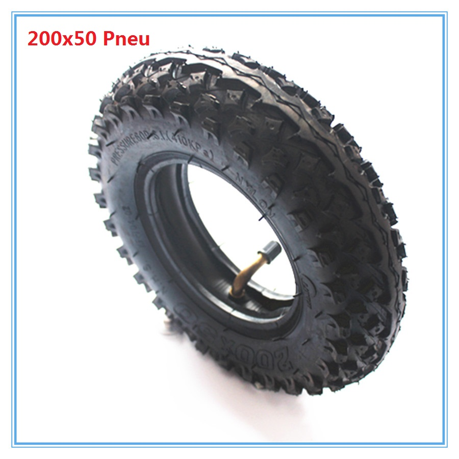 200x50 tyre for mini scooter with butyl inner tube good quality Pneu 200x50 model Free Shipping
