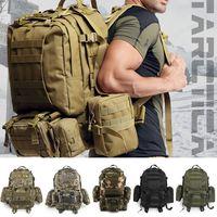 Hot 55L Waterproof Bags Nylon Picnic Bags Military Rucksacks Backpack Bag High Quality