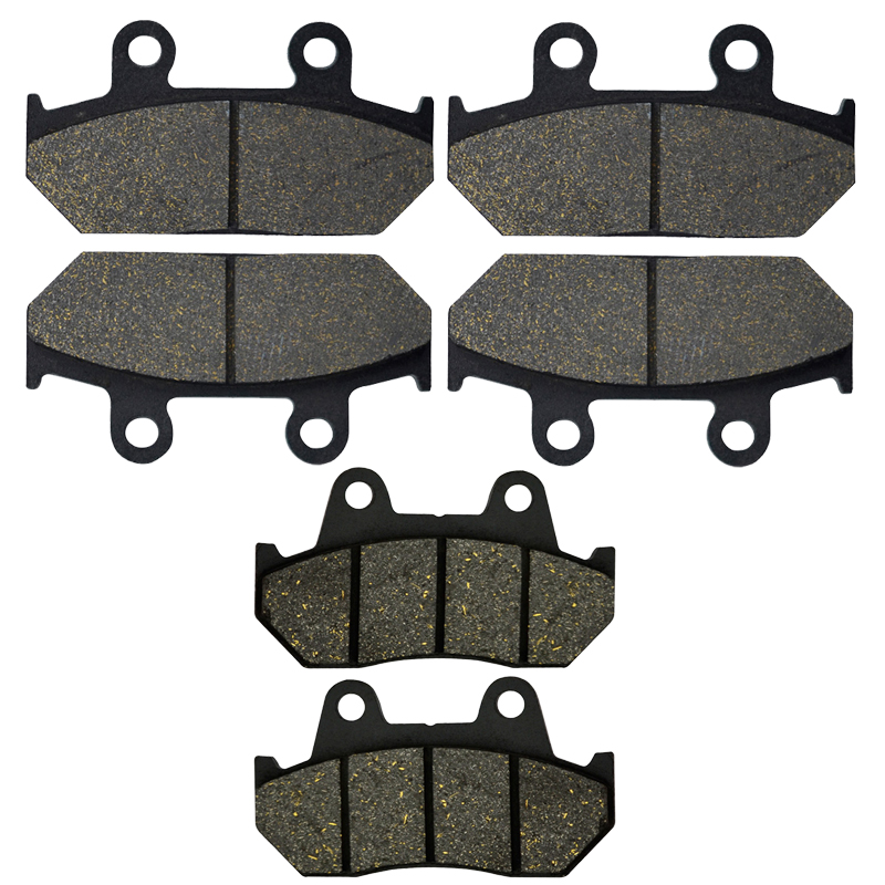 AHL Motorcycle Front and Rear Brake Pads For HONDA GL 1500 A Aspencade / Interstate 90-00 GL1500 Goldwing 98-00 VFR750F 86-87 motorcycle front and rear brake pads for yamaha fzr 400 fzr400 3en1 1988 brake disc pad