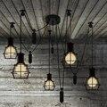 Mordern Nordic Retro Edison Lâmpada Luz Do Candelabro Do Vintage Sótão Antigo Aranha Pingentes de Teto Ajustável E27 interior Luzes de Arte