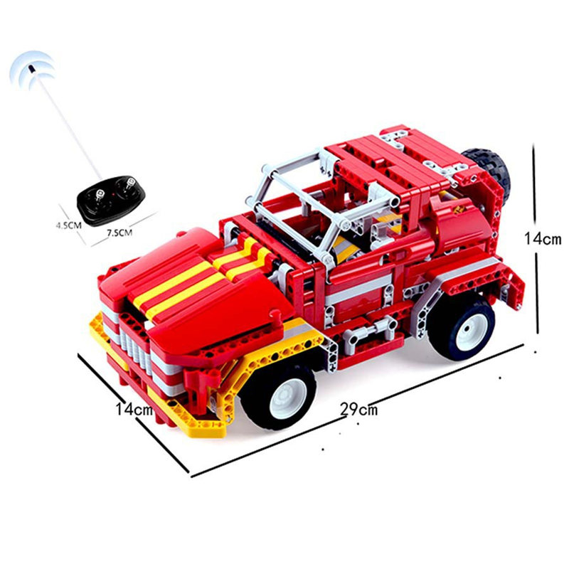 472pcs bricks remote control blocks war fire model building toys rc car outdoor fun kids toys assembly bricks cars toys 8002
