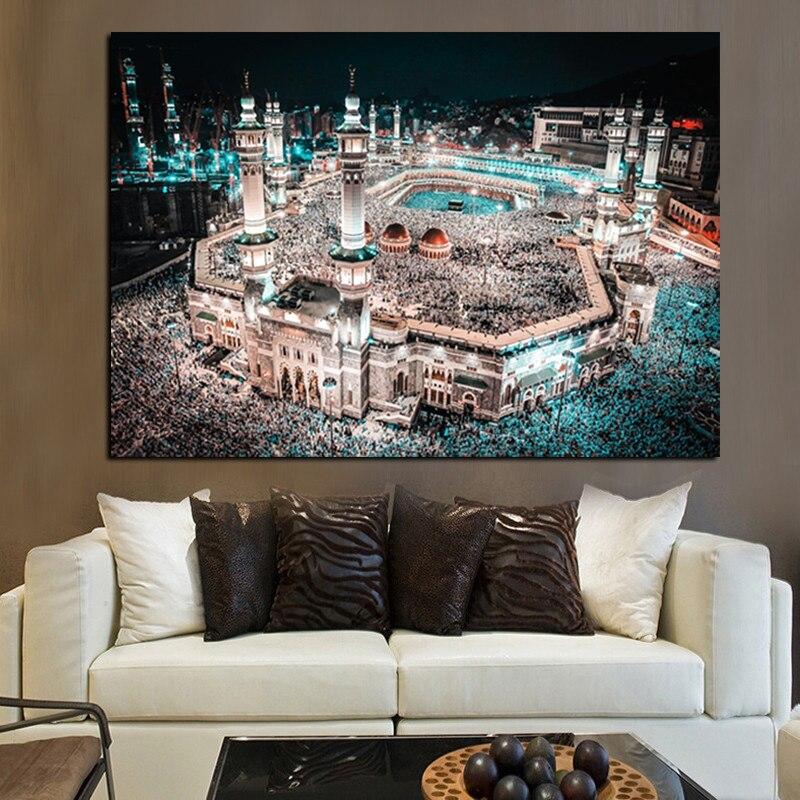 Moderne Pelegrinazhi Islam në Peizazhin e Natës së Xhamisë së - Dekor në shtëpi - Foto 3