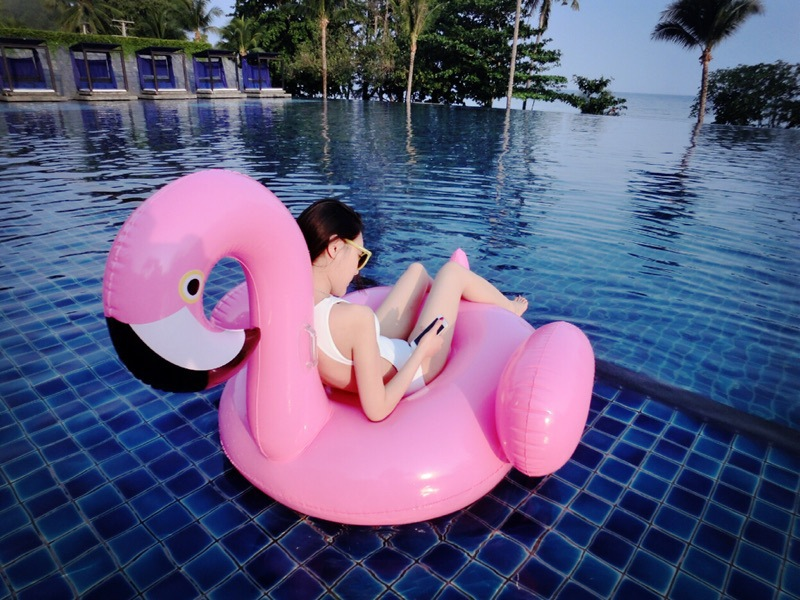 Inflatable Floating Adults Kids150CM 60Inch Inflatable Flamingo Pool Air Mattress Inflatable Beach Bed Water Boat Toys Boat keangel 2017 latest high quality brand new double floating row inflatable floating bed floating bed beach mat water cushion
