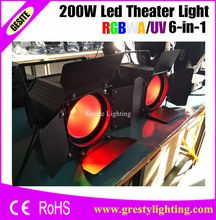 2pcs/lot minimum 2016 High Brightness Aluminium Case Warm White Led Par Light Dmx Stage Lights(China)