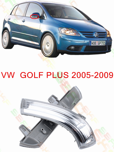 For Volkswagen VW GOLF Plus 5M1  521  2005-2009 Led Car Styling Side Mirror With Indicator Turn Signals Lights 1K0 949 101/102