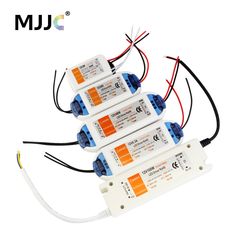 12 Volt Power Supply 12V LED Driver 18W 28W 48W 72W 100W AC 110V 220V To 12V DC Lighting Transformer Adapter For LED Strip CCTV