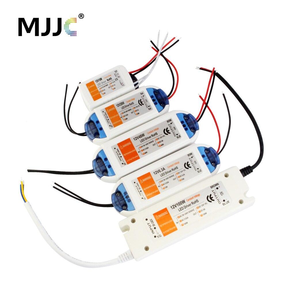 12 volts alimentation 12 V LED pilote 18 W 28 W 48 W 72 W 100 W AC 110 V 220 V à 12 V DC transformateur d'éclairage adaptateur pour LED bande CCTV