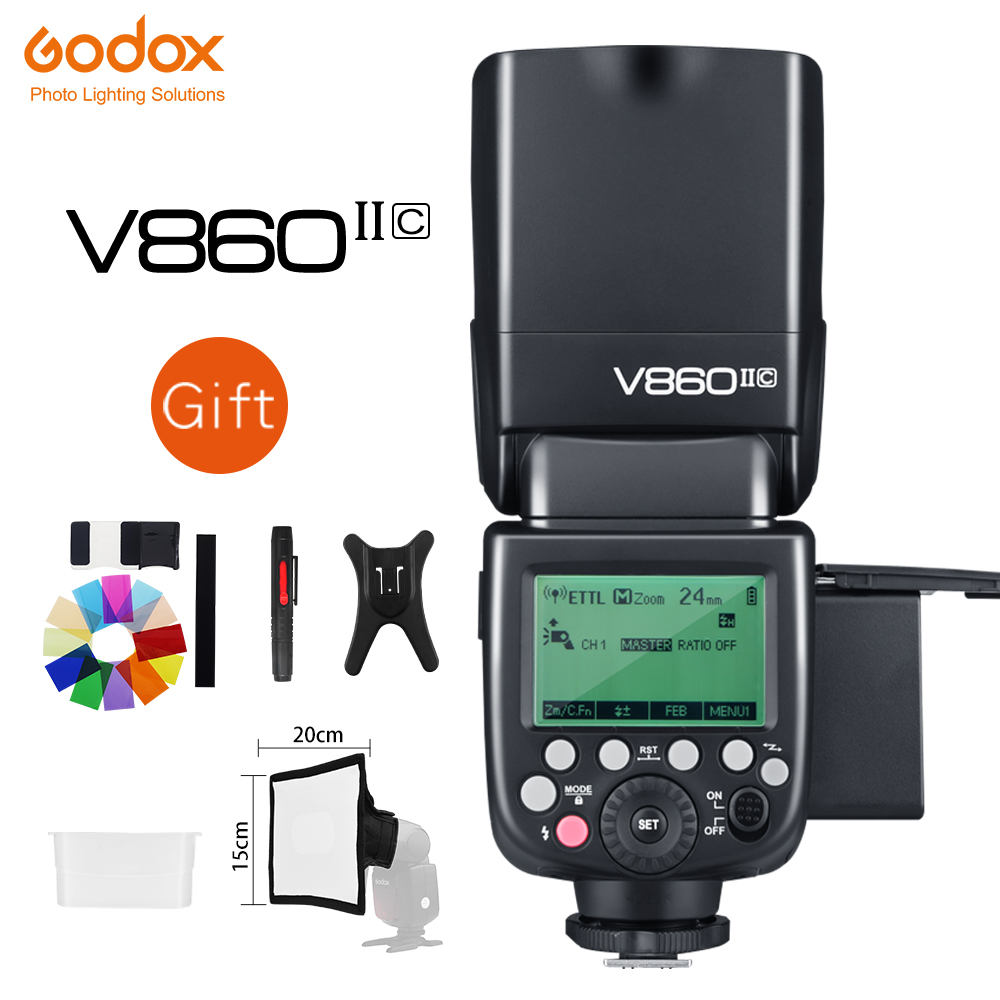Godox V860II S V860II C 860II N V860II F V860II O GN60 TTL HSS Li ion Battery Speedlite Flash for Sony Nikon Canon Olympus Fujiflash for sonyspeedlite flashgodox ving -