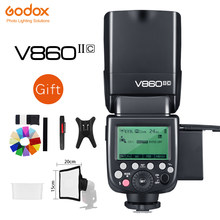 Godox V860II-S V860II-C 860ii-n V860II-F V860II-O gn60 ttl hss li-ion bateria speedlite flash para sony nikon canon olympus fuji