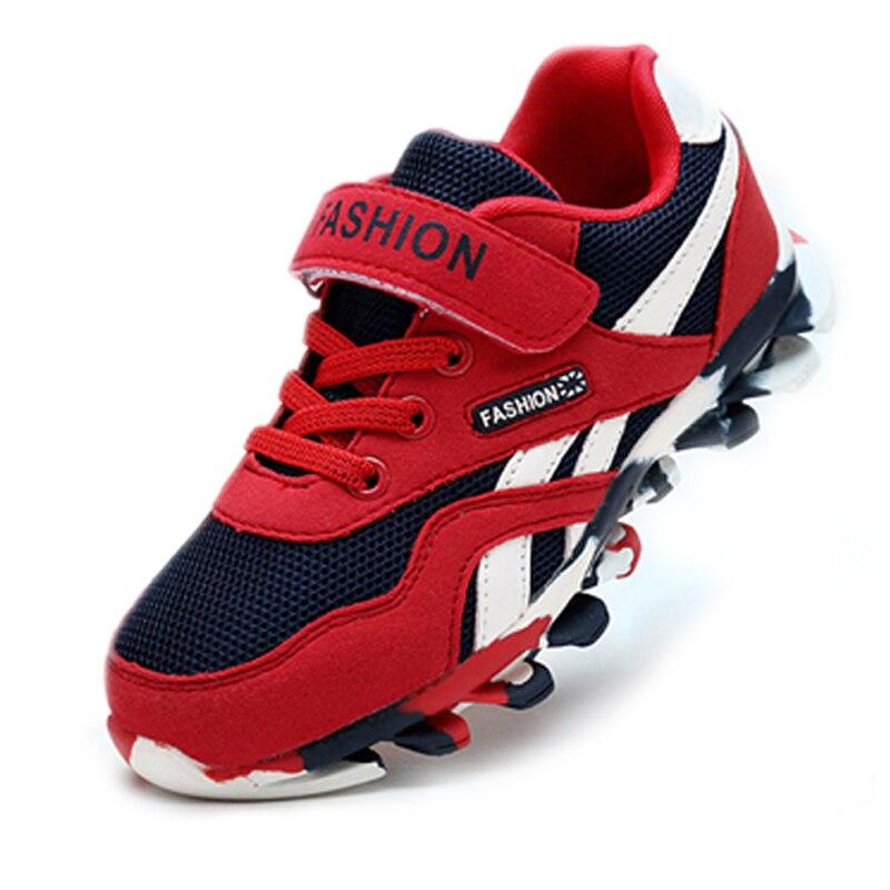 Anak laki laki Sepatu Anak Sepatu Anak anak Merek Sepatu Sport Mode Anak  Boy Sneakers Kulit 2179adb7e2