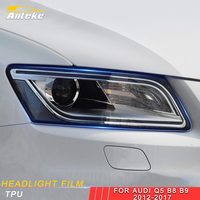 ANTEKE For Audi Q5 B8 B9 2012 2017car Styling Headlight Front Light Lamp Film Protector Cover Trim Sticker Interior Accessories