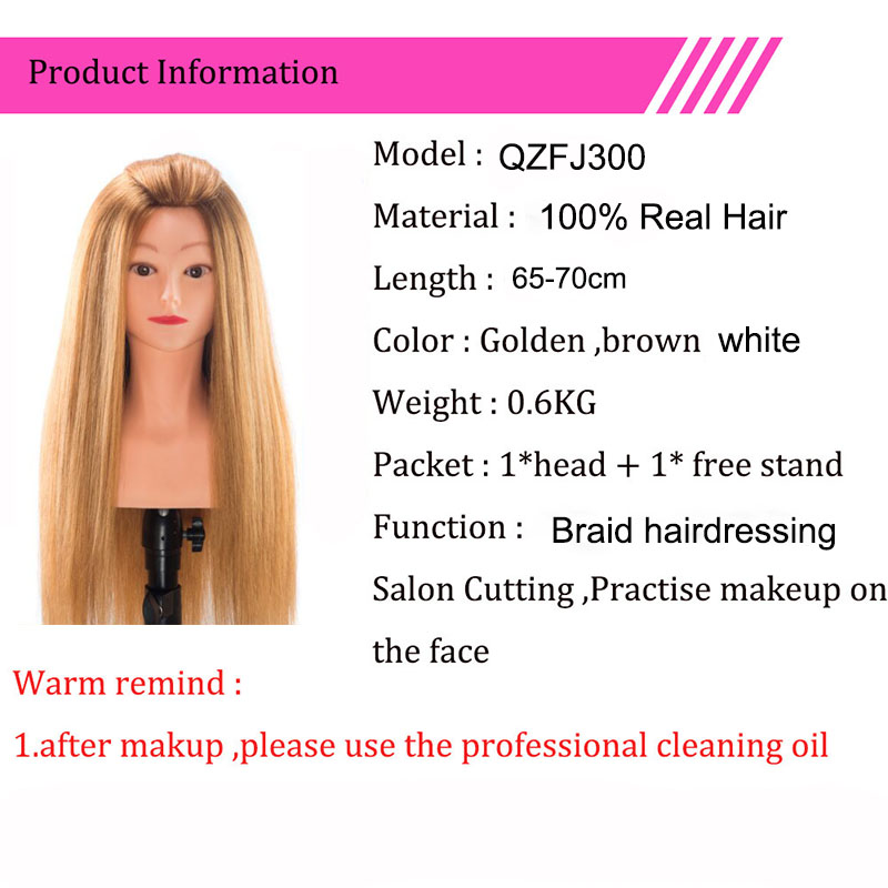 100% Real Hair Mannequins For Sale High Grade Professional Dolls Head For Salon Female Hairdresser Mannequin Head With Shoulder