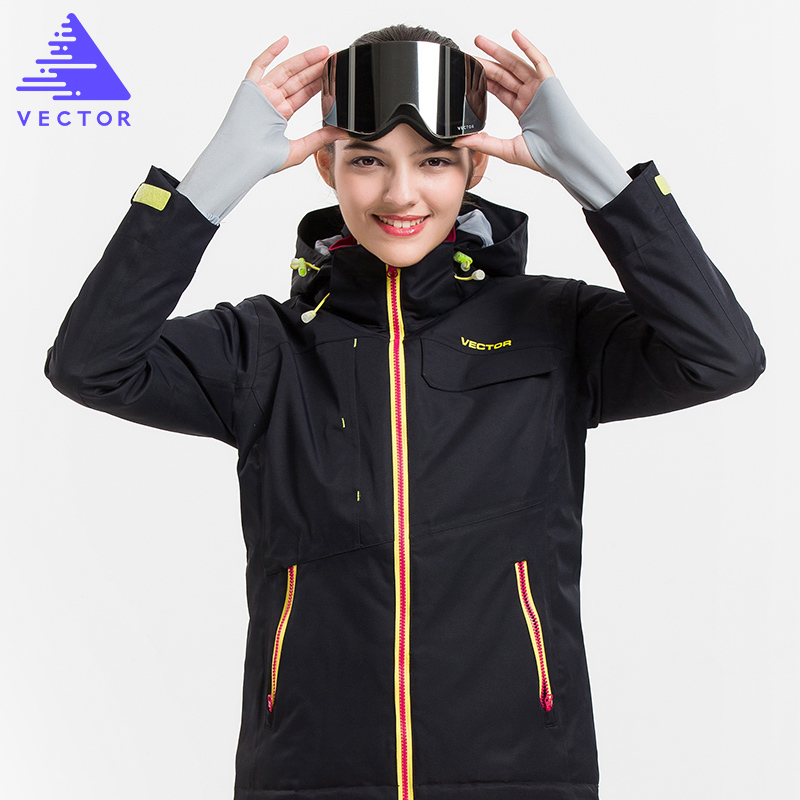VECTOR Brand Ski Jacket Women Waterproof Warm Winter Coat Female Snowboard Skiing Jackets Winter Outdoor Sport Clothing 60031 hot sale women ladies snowboard jacket waterproof breathable ski jacket female winter snow coat sport motorcycle anorak clothes