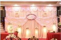 3m*6m wedding stage curtain wedding background drop curtain wedding backdrop curtain with swag wedding drapes