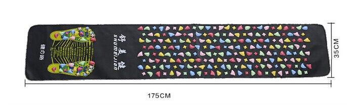 Medialbranch Plastic Foot Massager Pad Shortfalls Energy Walking Carpet Promote Blood Circulation Acupuncture Yoga Mat cute flower pot blood circulation promote rolling massager