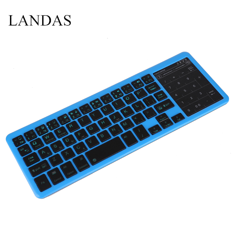 Landas Universal Touchpad Keyboard Mini Wireless rechargeable for Apple iPad Bluetooth Touchpad Keyboards for Huawei For Samsung