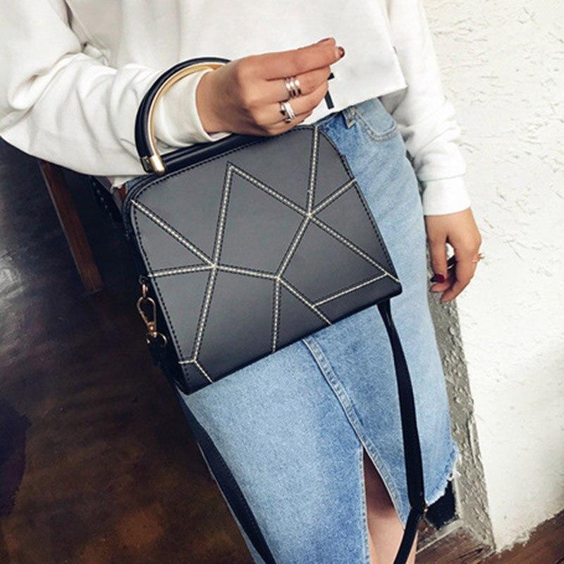 Femmes sac à bandoulière PU cuir Patchwork sac à main dame décontracté bandoulière Messenger sacs-OPK