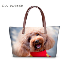 ELVISWORDS Women Large Handbags Shoulder Bags Colorful Cute Dogs Printing High Quality stylish for Ladies Female 2019 New elviswords women large handbags shoulder bags creative dogs cat pattern high quality stylish for girls female large capacity new