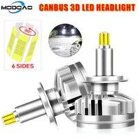 12000LM H1 H7 светодиодный Canbus H11 9005 HB3 9006 HB4 6 по бокам 3D светодиодный фары для автомобиля Авто Светодиодная лампа 360 градусов 6000 K Автомобильные све