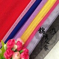 24 Eye Gauze Drapery American Net Mosquito Net Cloth Hard Eyelet Fabric Cloth Wedding Headdress Costume