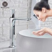 Черный кран для горячей холодной раковины на бортике, квадратный латунный Смеситель для ванной комнаты, с одной ручкой, белый смеситель для раковины, смеситель для раковины, кран для раковины