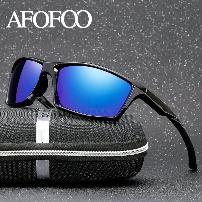 Afofoo Brand Classic Polarized Sunglasses Men Driving Sun Glasses Square Goggle Night Vision Glasses Eyewear Uv400 Shades Terrific Value