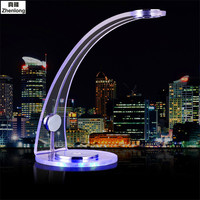 Desk Lamp USB Blue Romantic Atmosphere Table Lamp with Clip Reading Bed Light LED Desk Lamp Table Touch on/off Switch