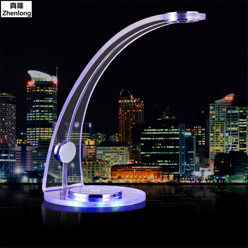 Desk Lamp USB Blue Romantic Atmosphere Table Lamp with Clip Reading Bed Light LED Desk Lamp Table Touch on/off Switch led reading eye protection desk lamp brightness usb rechargeable led desk table lamp light with clip touch switch