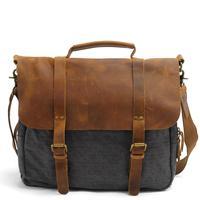 Vintage Military Canvas Crazy Horse Men Travel Bags Carry On Laptop Bags Men Duffel Bag Travel